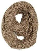 ForeverScarf Solid Color Knitted Infinity Loop Scarf