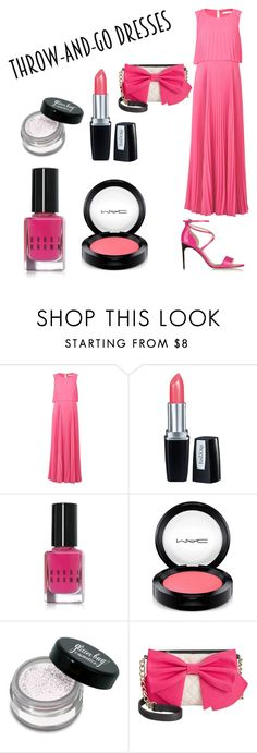 """""""throw and go dress."""" by altrisa-mulla ❤ liked on Polyvore featuring Gina Bacconi, Isadora, Bobbi Brown Cosmetics, MAC Cosmetics, Betsey Johnson and Brian Atwood"""