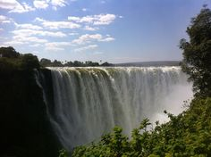 """The Victoria Falls is one of the """"Seven Natural Wonders Of The World"""" It is also know by its local people of Zambia and Zimbabwe as """"Mosi O Tunya"""" meaning the smoke that thunders. It is also the worlds largest natural waterfall."""