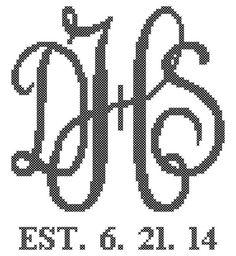 Modern Monogram Cross Stitch by oneofakindbabydesign on Etsy