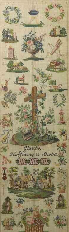 A 19th Century German Sampler ~ Undated