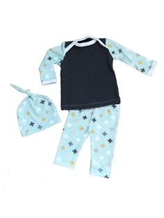 Baby Take Home Outfit Newborn Three Piece Outfit Going by lilcleo