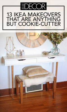 Our favorite IKEA hacks of all time. Everything from IKEA beds, to standing desks to dining tables. DIY furniture projects for every room. Decor, Furniture Hacks, Ikea Ekby, Ikea Diy, Furniture Makeover, Ikea Rug, Furniture, Interior, Home Decor