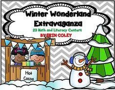 Winter Wonderland Extravaganza (23 Math & Literacy Centers) Kindergarten or First Grade Center Activities Winter Snowmen Thematic