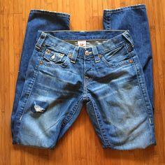 True Religion Jordan jeans True Religion Jordan jeans in perfect condition. True Religion Jeans Straight Leg