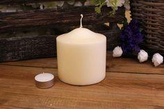 Κεριά Κυλινδρικά Εκρού Φ10x10εκ Pillar Candles, Taper Candles