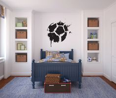 Soccerball Paint Splatter Vinyl Wall Decal Sticker Graphic