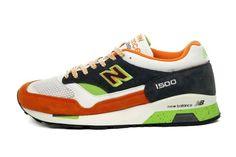New Balance 1500: Green/White/Orange
