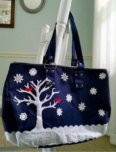 Snowy Scene Bag Transformation | Budget-friendly dollar store items let you makeover a bag for less than $10!