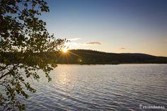 Sunset at Luirojärvi lake Lapland Finland, Helsinki, Wonders Of The World, Northern Lights, National Parks, Sunset, Day, Nature, Life