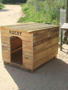 DIY Pallet Outdoor Dog House