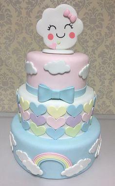 Bolo chuva de amor Bolo biscuit chuva de amor Bolo chuva de benção Escritório da Arte (Sorocaba/SP) Torta Baby Shower, Cupcakes, Cupcake Cakes, Bolo Fake Eva, Deco Cupcake, Cloud Cake, Carousel Cake, Fake Cake, Funny Cake