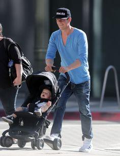 Josh Duhamel, son Axl Jack Duhamel and their NUNA PEPP