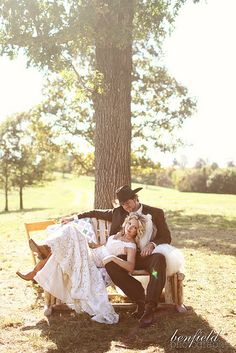 I love this picture! It's serene, country, and the way he is looking at his bride is precious!