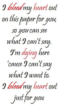 Bleed, Hot Chelle Rae song lyric quote