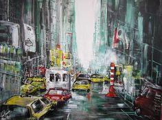 "Saatchi Art Artist Jose Goevaers; Painting, ""New York Yellow Cabs"" #art"