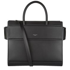 Givenchy Small Matte Horizon Tote (€1.800) ❤ liked on Polyvore featuring bags, handbags, tote bags, purses, genuine leather tote, leather tote purse, structured tote, leather tote bags and purse tote