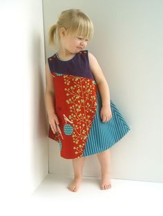 little echino dress - love so much about it - colors, buttons, stiffness.