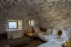Patrice Besse - seasonal rental - Auvergne - A buron transformed into a cottage surrounded by nature in theauvergne Volcanoes Nature Reserve Transformers, Bored At Home, Location Saisonnière, Beech Tree, Dry Stone, Refuge, Piece A Vivre, Stone Houses, How To Make Light