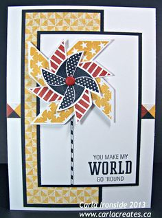 """Carla Creates: CTMH May 2013 Stamp of the Month """"Pinwheel"""" and """"Tommy"""" paper"""
