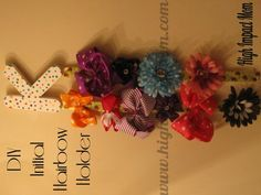 DIY initial hairbow holder pinnable image