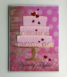 Card cake heart hearts roses MFT cake Die-namics  MFT Bring on the Cake Die-namics MFT-502 #mftstamps Happy Birthday Studiolight paper pad - kort kage lagkage fødselsdag hjerteligt tilllykke hjerter - JKE