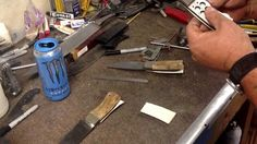 Fitting scales to a fixed blade knife