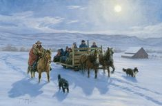 """Solstice Sleigh Ride"", by American artist - Robert Duncan (1952 - )"