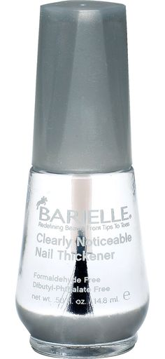 Barielle Nail Thickener: Barielle formula is clinically proven to thicken your nails by up to 50% with just a single stroke, so it's easier to grow them. Originally formulated to keep show horses' hooves healthy, Barielle helps heal cracked, split, or peeling nails.