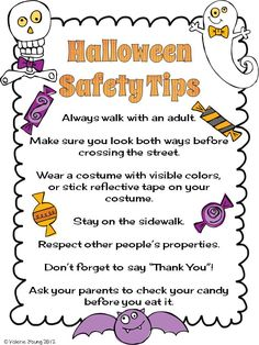 the lesson cloud halloween safety should we add do share with your - Halloween Safety Printables