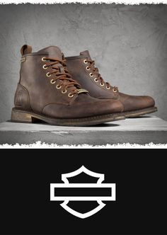 Who says you can't have stylish boots with excellent quality when you're kicking back off-the-bike? | Harley-Davidson Men's Darrol Boots - Brown #FathersDay