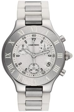 W10184U2 Cartier Must 21 Chronoscaph Womens Quartz Chronograph Watch - Buy Now Guaranteed 100% Authentic with FREE Shipping at AuthenticWatches.com
