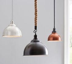 PB Classic Pendant - Metal Bell | Pottery Barn