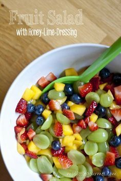 Fruit Salad with Honey-Lime-Dressing