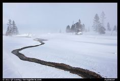 Yellowstone National Park, Wyoming, USA...years ago on a snowmobile in winter, a beautiful and unforgettable trip