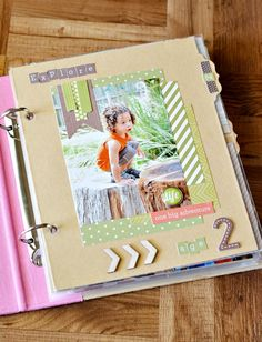 Easy Scrapbook Made with the Sn@p Studio Line. I like the divider pages.