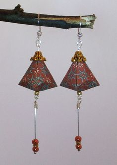 Origami earring by Originnovation on Etsy, $12.00