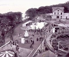 New Brighton, fair at Tower Grounds. Liverpool Town, Liverpool History, New Brighton Beach, The Pleasure Garden, Go Kart Tracks, Seven Wonders, Local History, Outdoor Pool, Vintage Postcards