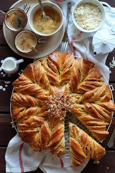 Torta decorada de brioche {rellena de manzana} Rico sin azúcar blog