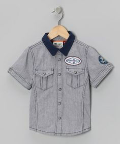 Insignia Blue 'United' Button-Up - Toddler & Boys