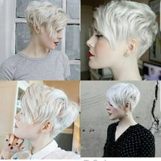 Today we have the most stylish 86 Cute Short Pixie Haircuts. We claim that you have never seen such elegant and eye-catching short hairstyles before. Pixie haircut, of course, offers a lot of options for the hair of the ladies'… Continue Reading → Blonde Haircuts, Short Pixie Haircuts, Pixie Hairstyles, Short Haircut, Cheveux Oranges, Natural Straight Hair, Naturally Straight, Straight Weave Hairstyles, Corte Y Color