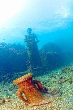 The Underwater Archaeological Park of Baiae, Italy:The Sunken City of Baia, Italy. It was a Roman seaside resort on the Bay of Naples. Baiae was sacked by Muslim raiders in the 8th century CE and was deserted because of malaria by 1500.