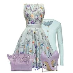 Breathtaking Floral Outfit Ideas for All Seasons 2018 - The Best Floral Outfits Classy Outfits, Pretty Outfits, Pretty Dresses, Beautiful Outfits, Beautiful Things, Casual Outfits, Mode Outfits, Dress Outfits, Fashion Dresses