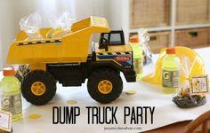 levi turns three {dump truck party} » The Macs