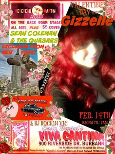 UPDATE ADDED TO GIZZELLE VALENTINES DAY SEAN COLEMAN & THE QUASARS!  exclusive from New York Wild Records recording artists!