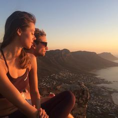 Here & now.  #lionshead #climbing #couple #sundown #campsbay #12apostles #southafrica #upinthesky #live #love #travel #beautiful #relationshipgoals #fitness #reebok #healthyliving #swag #sun #skyline #me #girl #sporty #capetown #instagood #instalike #instamood #potd #follow #nofilter by carooooow http://ift.tt/1ijk11S