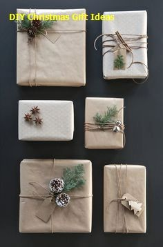 Here are the best DIY gift wrapping ideas for you to wrap the gifts for you friends and relatives on their birthday parties , wedding and for many celebrations! Diy Gifts For Christmas, Christmas Gift Wrapping, Modern Christmas, Christmas Decorations, Christmas Ideas, Simple Christmas, Christmas Christmas, Holiday Gifts, Funny Christmas