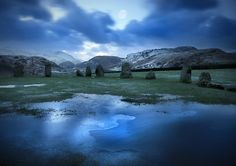 Celtic Mistique by ArwensGrace Watch Photography / Animals, Plants & Nature / Landscapes©2009-2016 ArwensGrace Castlerigg Stone Circle in the beautifull Lake District, Cumbria, England.   Extreamly cold and windy but worth the drive and wait for the mystical light between night and day.
