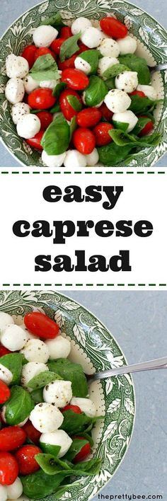 An easy caprese salad recipe - this is the perfect summer salad!