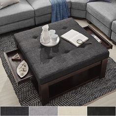Shop for Lennon Espresso Square Storage Ottoman Coffee Table by TRIBECCA HOME. Get free shipping at Overstock.com - Your Online Furniture Outlet Store! Get 5% in rewards with Club O!